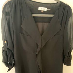 Calvin Klein black slouchy blouse
